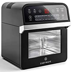 Change everything you thought you knew about cooking with the ChefWave 12.6 Quart Air Fryer Oven. The unique cooking style of the state-of-the-art ChefWave Air Fryer Oven with Dehydrator and Rotisserie gives you a healthier option than...