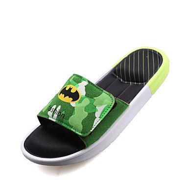 Sandalias de verano zapatos de hombre casual Zapatillas de gamuza negro / azul / verde / rojo Green