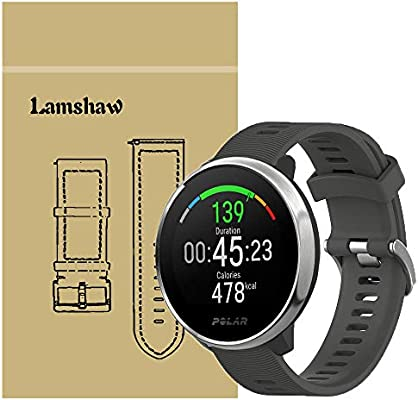 Ceston Moda Deporte Silicona Clásico Correas para Smartwatch Polar Ignite (Negro)