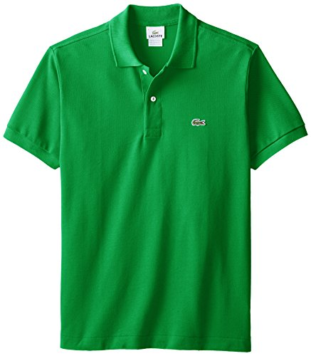 Lacoste Men's Short Sleeve Pique L.12.12 Original Fit Polo Shirt, Chlorophyll Green, 4 (Mens Lacoste Polo Shirts)