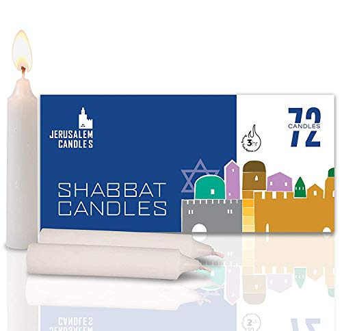 - Shabbat Candles - Traditional Shabbos Candles - 3 Hour - 72 Candles