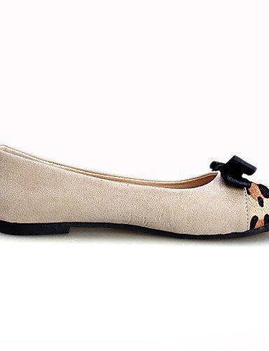 PDX/ Damenschuhe - Ballerinas - Kleid / Lässig - Wildleder - Flacher Absatz - Komfort / Spitzschuh / Geschlossene Zehe - Schwarz / Weiß white-us7.5 / eu38 / uk5.5 / cn38