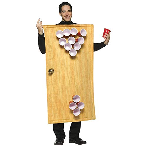 Rasta Imposta Beer Pong Costume 14 Cups Included, Brown, One Size]()