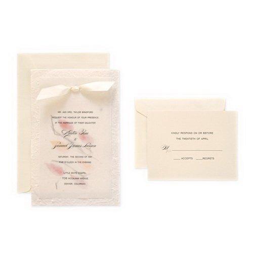 Gartner studios natural hand made paper wedding invitation for Wedding invitation kits 50 count