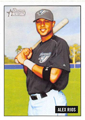 2005 Bowman Heritage Baseball #197 Alex Rios Toronto Blue Jays Official MLB Trading Card From Topps