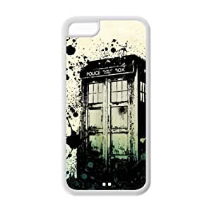 Custom Doctor Who Tardis Cover Case for iPhone 5C LC-541