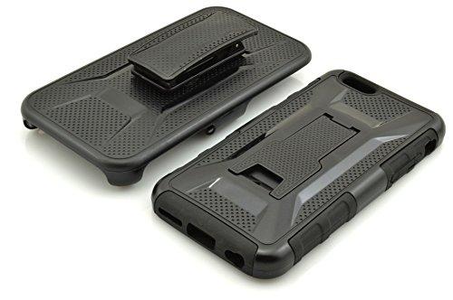 Iphone 6 Coque Plus,Iphone 6S Plus Coque,Lantier [Heavy Duty Robot] [Défenseur militaire] Armure de ceinture noire haut de gamme de Clip Holster Béquille pare chocs pour Apple Iphone 6 Plus,Iphone 6S