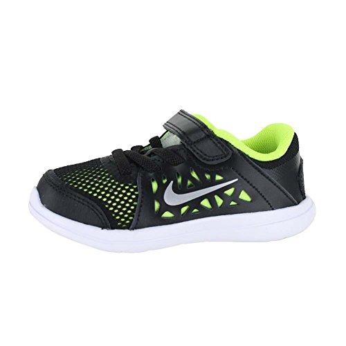 Nike Flex 2016 RN (TDV), Zapatos de Primeros Pasos para Bebés, Negro (Black / Metallic Silver-Volt-White), 23 1/2 EU