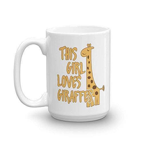 Giraffe Lovers Gift Mug for Women and Girls (15oz) -