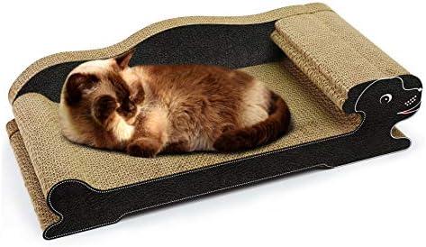 XZHH Tablero De Arañazos para Gatos De Papel Corrugado Perro Mascota Gato Cama Agarrar Juego De Mesa Tablero Acolchado Arena para Gatos Sofá Almohadilla para Mascotas Negro: Amazon.es: Productos para mascotas