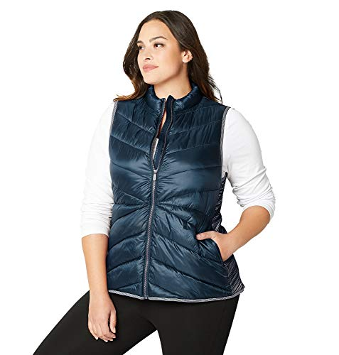 Avenue Women's Spacedye Inset Quilted Vest, 22/24 - Quilted Avenue Vest