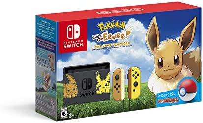 Nintendo Switch Console Bundle   Pikachu & Eevee Edition With Pokemon: Let's Go, Eevee! + Poke Ball Plus by By    Nintendo