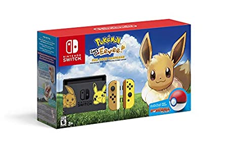 Pikachu & Eevee Edition with Pokemon: Let's Go, Eevee! + Poke Ball Plus - Nintendo Switch
