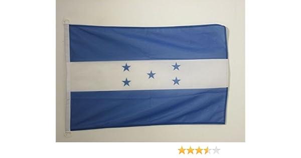 AZ FLAG Bandera Nautica de Honduras 45x30cm - Pabellón de conveniencia HONDUREÑA 30 x 45 cm Anillos: Amazon.es: Jardín