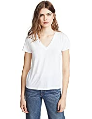Vince Womens Essential V Neck Tee