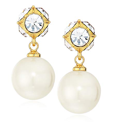 Kate Spade New York Pearl Drop Earrings, Cream/Gold (Lady Marmalade Pearl)