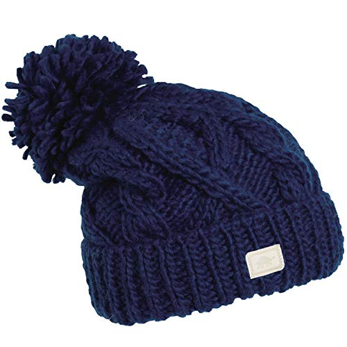 Turtle Fur - Sugar Bowl Hand Knit Merino Beanie Fully-Lined w/sherpasoft Midnight ()