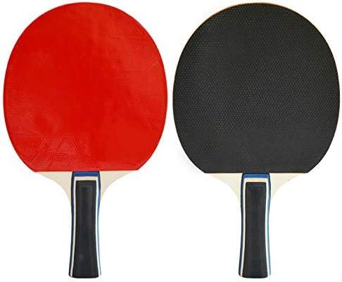 Raqueta de tenis de mesa de doble cara anti-adhesivo traje de tiro horizontal 2 palos niños estudiantes principiantes