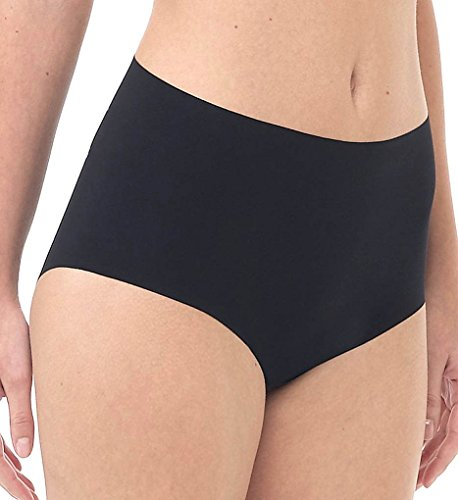 Shirley Spandex Bikini - commando Women's Solid High-Rise Panty HRP01, Black SM/MD