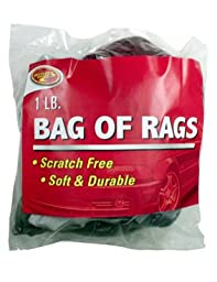 Tiger Accessory Group 2-254 Bag of Rags Cleaning Cloths, 1-Lb. - Quantity 6