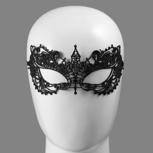 [Alicenter(TM) KD-11 Lace Floral Sexy Women Masquerade Mask Party Halloween Ball Accessory J] (Sexy Halloween Cost)