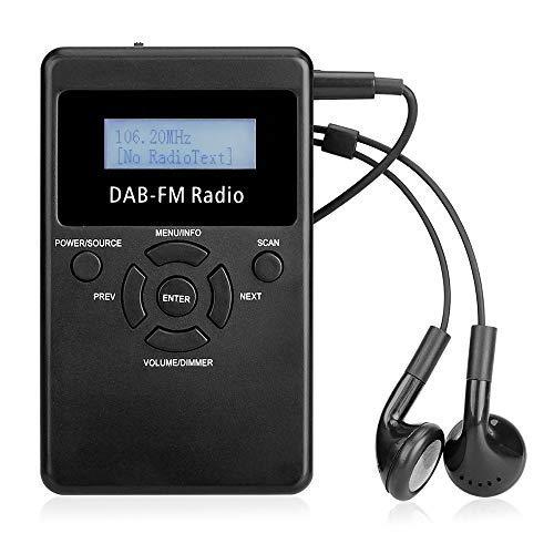 Docooler Portable Digital DAB FM RDS Radio Pocket Digital DAB Stereo Lossless Receiver with Earphone Lanyard 1.2