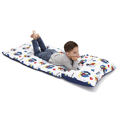Disney Mickey Mouse Padded Toddler Easy Fold Nap Mat With Attached Pillow Case -...