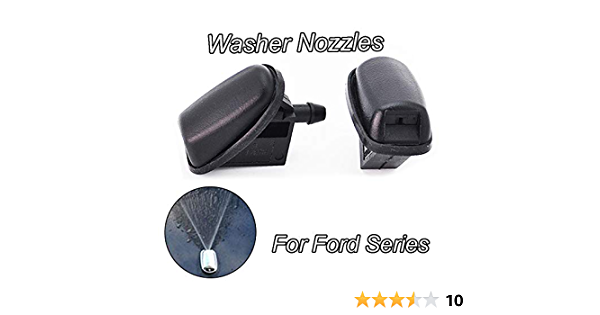 Color : Chrome KGDUYH Windscreen Wiper Washer Chrome Front Windscreen Windshield Washer Head Water Spray Nozzle Wiper Water-jet Cover Trim for Ford Focus MK3 Mondeo MK4 cars