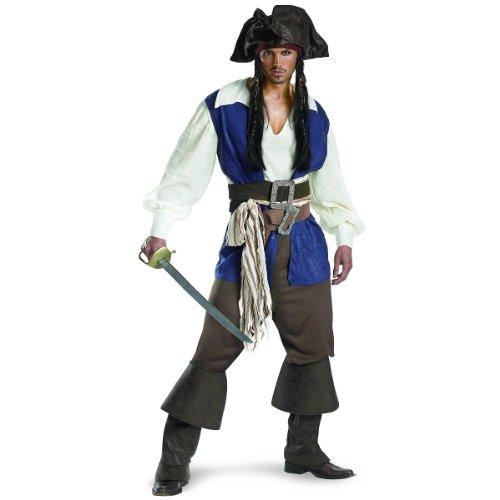 Captain Jack Sparrow Deluxe Teen Costume, Medium