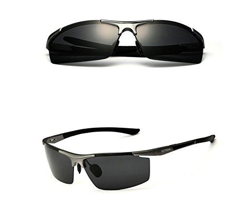 Aluminio macho hombres deportes sol Gafas de conducción revestimiento polarizadas de Magnesio gafas rfqwRr