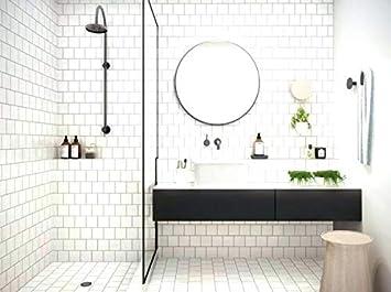 6x6 White Glossy Finish Ceramic Subway Tile Shower Walls Backsplash Made In Usa 12 5sf Full Box 50pcs Amazon Com