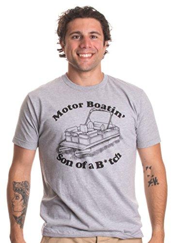 Motorboatin Son of a Btch Funny Pontoon Motor Boat Boating Motorboating T-shirt-(Adult,2XL)