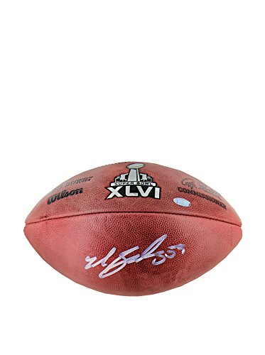NFL New York Giants Michael Boley Signed Football by Steiner Sports