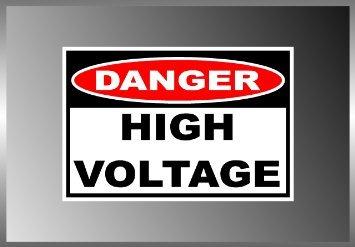 High Voltage Danger Sign Warning Label Vinyl Decal Bumper Sticker (High Signs)