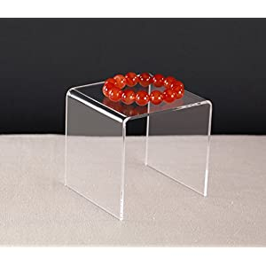 Jusalpha Clear Acrylic Riser Stand Lot of 8 (4x4x4 Inches)