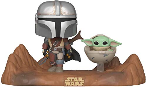 Funko- Pop Moment Mandalorian-Mandalorian & Child Figura Coleccionable, Multicolor (49930)