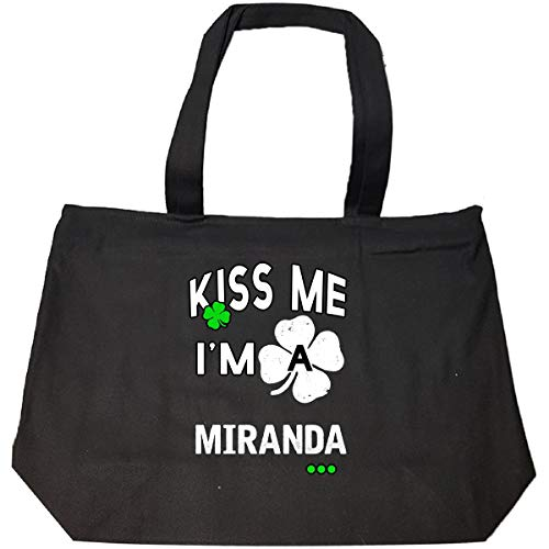 Funny St Patricks Day Irish Kiss Me Im A Miranda - Tote Bag With Zip