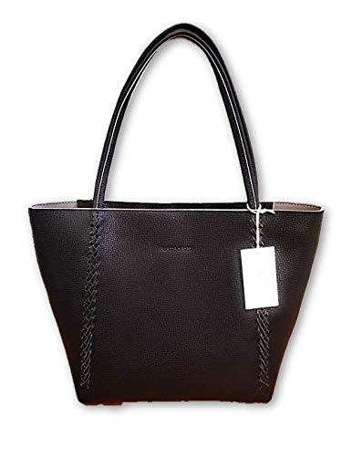 Etienne Aingner Black Stella Durable Leather Tote Handbag (Black Etienne Aigner Handbags)
