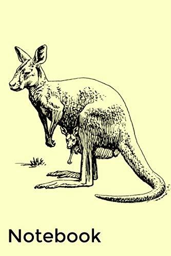 Notebook: Kangaroo Homework Book Notepad Notebook Composition and Journal Gratitude Diary Gift por Retrosun Designs