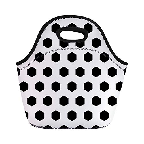 - Semtomn Neoprene Lunch Tote Bag Honeycomb Black Polygons Tessellation on Pattern Regular Hexagons Grid Reusable Cooler Bags Insulated Thermal Picnic Handbag for Travel,School,Outdoors,Work