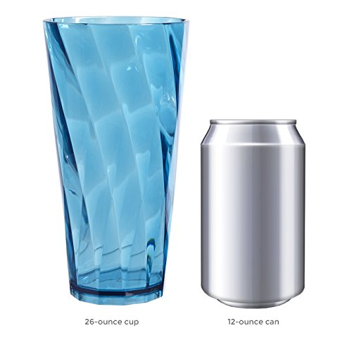 Optix 26-ounce Plastic Tumblers | set of 8 in 4 assorted colors by US Acrylic (Image #3)