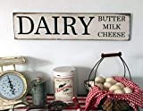 Ballkleid Dairy Butter Milk Cheese Farmhouse Fixer Upper Style Hanging Plaques for House Funny Wooden Door Desk Signs