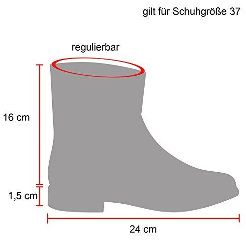 ... Damen Schlupfstiefel Warm Gefütterte Stiefel Stiefeletten Winter Boots  Bommel Pailletten Glitzer Snake Print Schuhe Flandell Schwarz 20ee3e806f