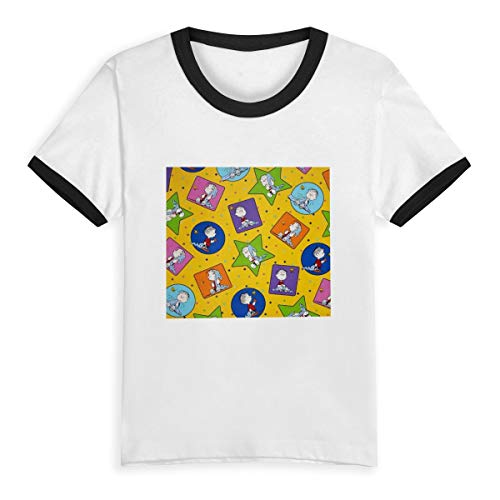 Unisex Kids Raglan Shirts Peanuts Project Linus Boys Girls Short T-Shirt Black]()