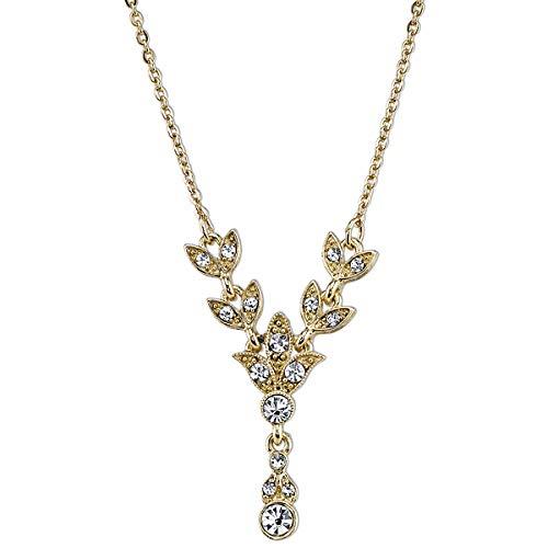 Downton Abbey Gold-Tone Crystal Y-Drop Necklace