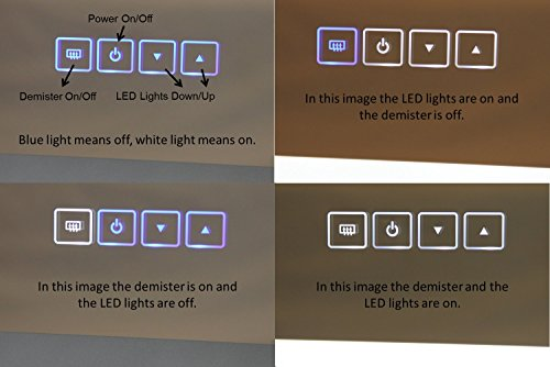 Dimmable LED Bordered Illuminated Mirror by Lighted Image (Image #1)