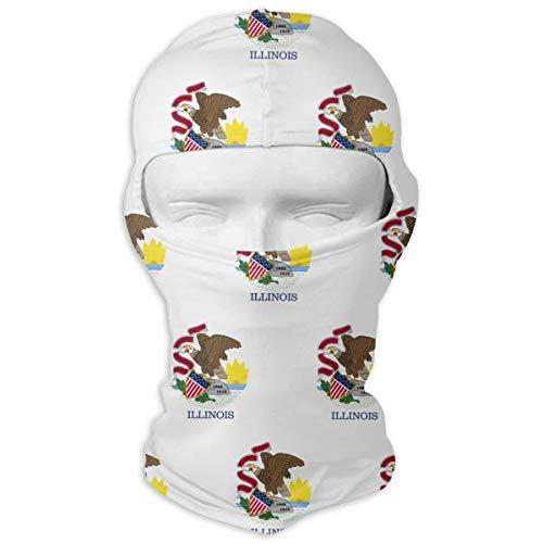 WD&rain Illinois Flag Pattern Balaclava Face Mask Headwear Helmet Liner Gear Motorcycle Mask - Gear Training Bike Classic Wood