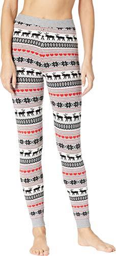 Hot Chillys Women's Sweater Knit Printed Leggings Winter Love Medium 28