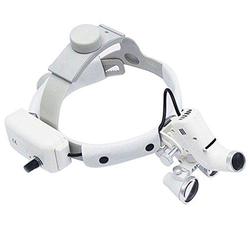 Denshine Dental Binocular Loupes Glasses Head Band Magnifier with LED Light 3.5X-420 Optical by Denshine (Image #1)