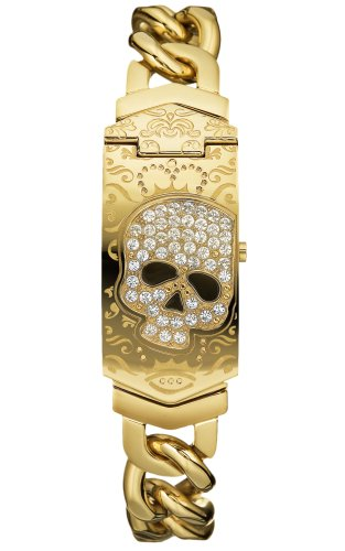 Marc Ecko Men's E16562G1 Better Off Dead Skull ID Bracelet Watch